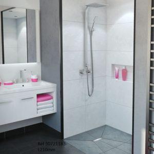 SO LOW, caniveau de douche à l'italienne avec guide-pentes intégrés
