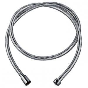 60720415 METAL POWER PLUS TWIST, flexible de douche en inox chromé, collection essential