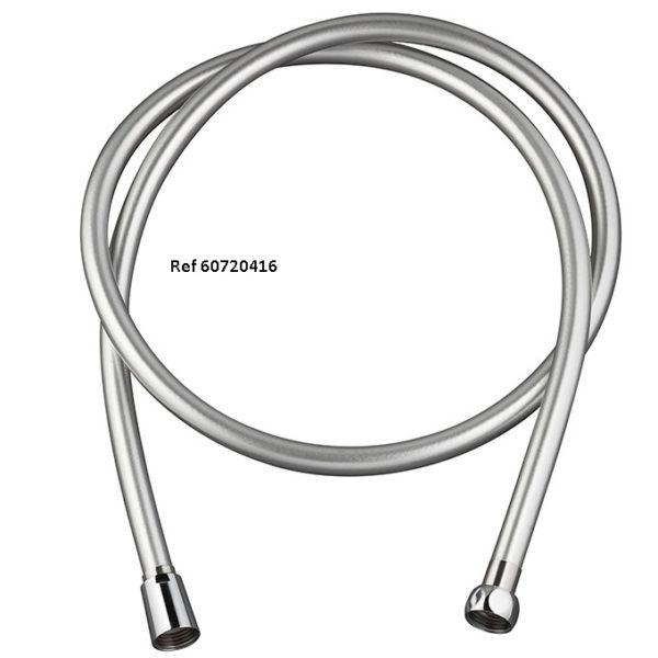 60720416.PVC SILVER TWIST, flexible de douche en pvc lisse, collection essential
