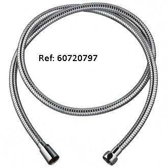 60720797METAL STRETCH TWIST, flexible de douche en inox chromé, collection essential