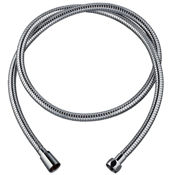 60720798.METAL ULTRA POWER TWIST, flexible de douche en inox chromé, collection essential