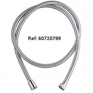 60720799METAL SHINY TWIST, flexible de douche en inox chromé, collection essential