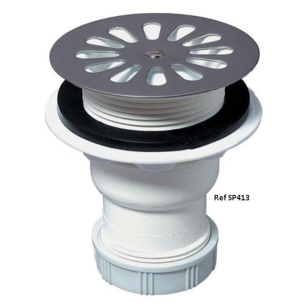 SP413-Bonde de douche pour receveur Ø60 mm sortie verticale